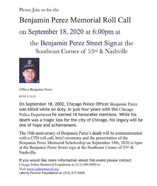 2020 Benjamin Perez Memorial Roll Call